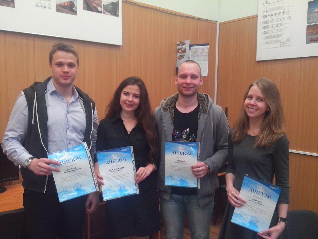 победителей конкурса на лучшую студенческую научную работу по естественным, техническим и гуманитарным наукам ГУАП в 2014-2015 учебном году.